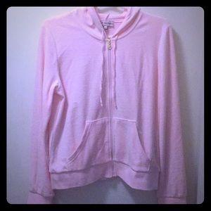 Juicy Couture zip up hooded sweat jacket